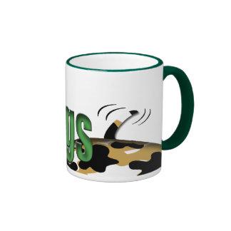 Perros del amor de la paz tazas de café