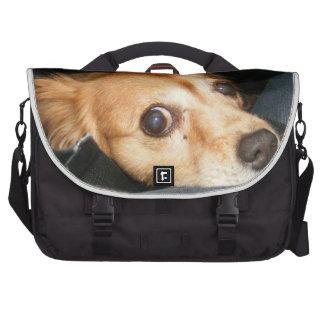 perros del amor del bolso del negro del bolso del bolsa para ordenador
