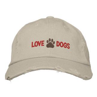 Perros del amor gorra de beisbol bordada