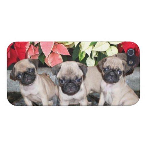 Perros del barro amasado del navidad iPhone 5 protector