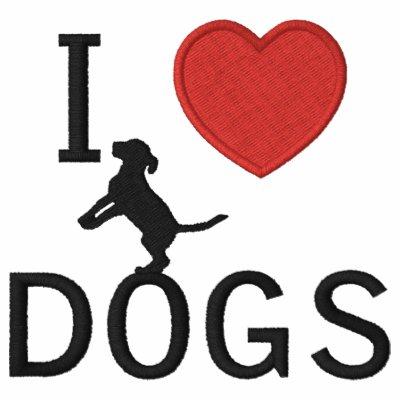 perros del corazón i sudadera bordada con capucha de mujer