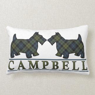 Perros del escocés del tartán de Campbell del Cojín Lumbar