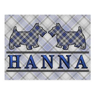 Perros del escocés del tartán de Hannay Hanna del Tarjetas Postales