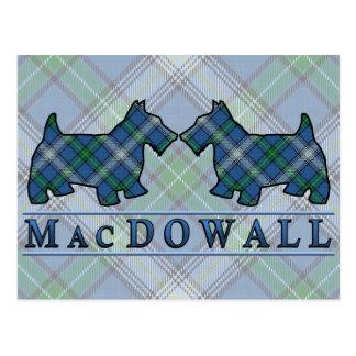 Perros del escocés del tartán de MacDowall del Postal