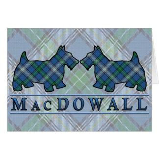 Perros del escocés del tartán de MacDowall del Tarjeta De Felicitación