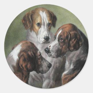 Perros del Fox Etiquetas Redondas