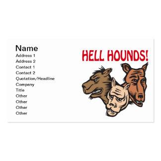 Perros del infierno tarjetas de visita