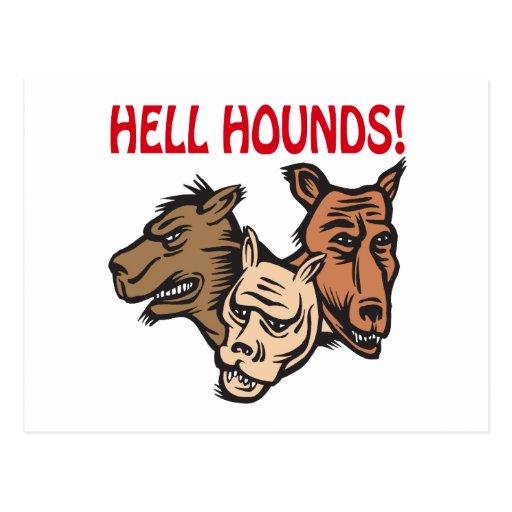 Perros del infierno tarjetas postales