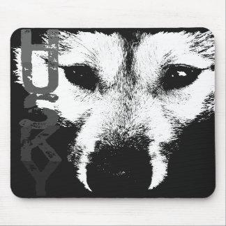 Perros del lobo del Malamute de los regalos de Mou Alfombrillas De Ratón