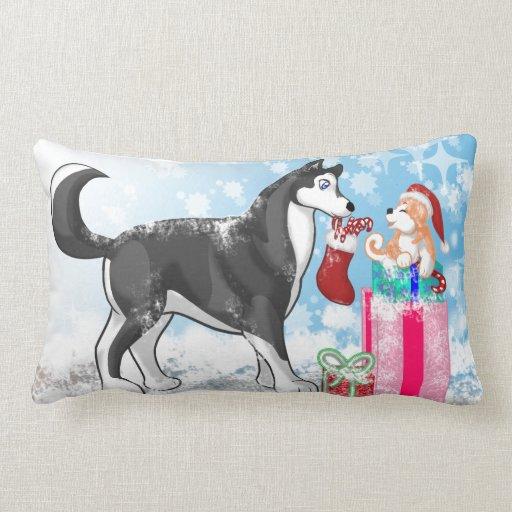 ¡Perros del navidad! Almohada