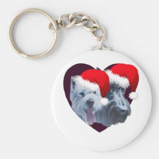 Perros del navidad llaveros
