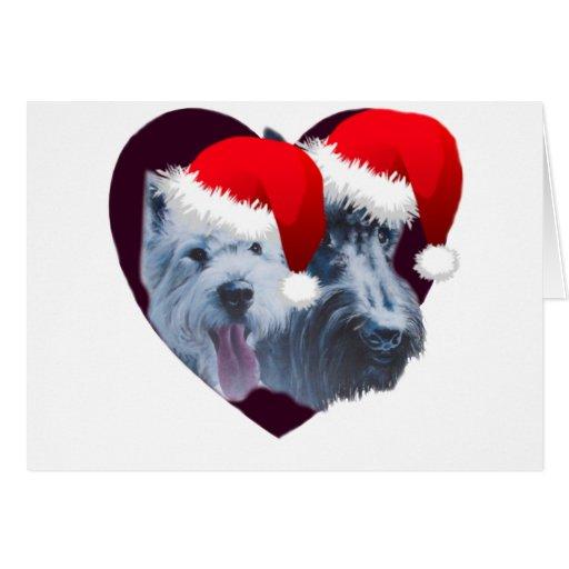 Perros del navidad tarjeta de felicitación