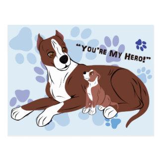 Perros del padre y del hijo postal