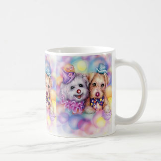 perros del payaso, perros del payaso, perros del p taza básica blanca