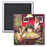 perros del póker 10b: Waterloo (aproximadamente 19 Imán Cuadrado