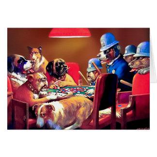 Perros del póker: Pellizcado con cuatro as Tarjeta De Felicitación