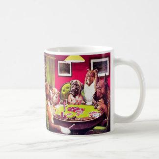 Perros del póker Un pen¢asco intrépido Taza De Café