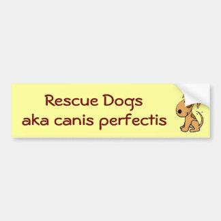 Perros del rescate de DG, aka perfectis del canis Pegatina Para Auto