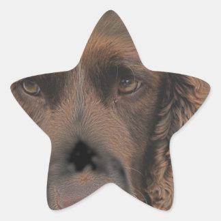 Perros del saltador inglés pegatina en forma de estrella