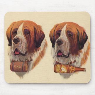 perros del St. Bernards del gemelo idéntico Tapetes De Ratón