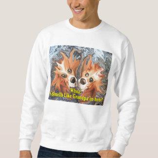 ¡Perros divertidos que huele como abuelo adentro Suéter