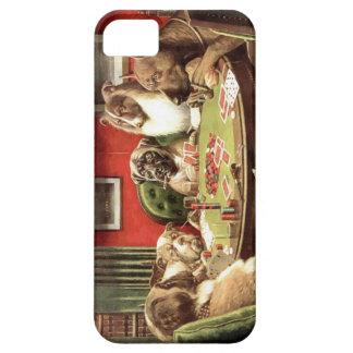 Perros divertidos que juegan el caso de la cubiert iPhone 5 cárcasa