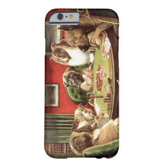 Perros divertidos que juegan el caso del iPhone 6 Funda De iPhone 6 Barely There