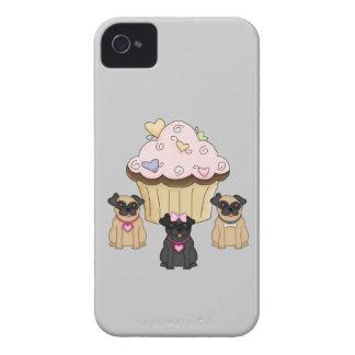 Perros dulces del barro amasado de la magdalena iPhone 4 carcasas