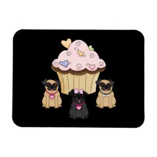 Perros dulces del barro amasado de la magdalena iman