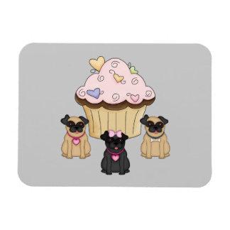 Perros dulces del barro amasado de la magdalena imán