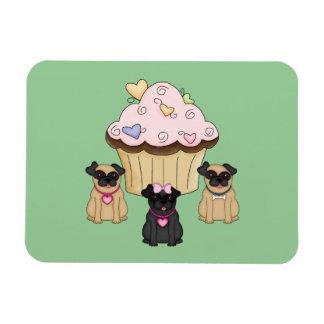 Perros dulces del barro amasado de la magdalena imanes rectangulares