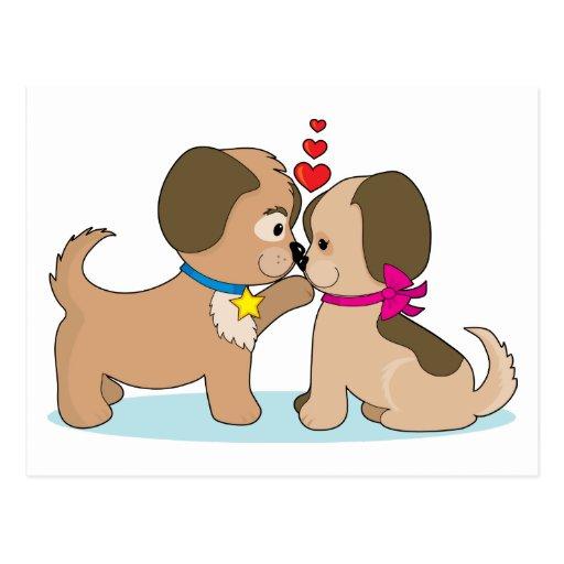 Perros en amor postal