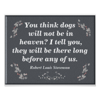 Perros en cielo - impresión del arte póster
