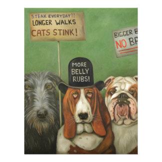 Perros en huelga membrete a diseño