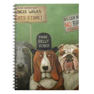 Perros en huelga spiral notebook