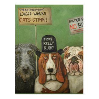 Perros en huelga postales