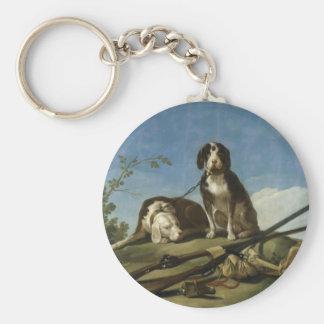 Perros en traílla Keychain