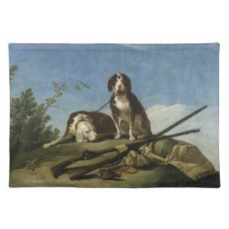 Perros en traílla Placemat Cloth Placemat