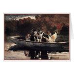 Perros en un barco de Winslow Homer Felicitacion