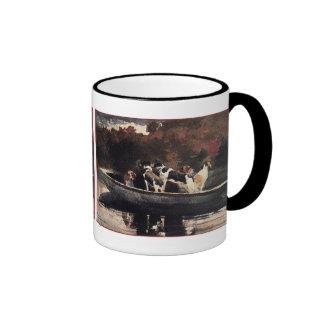 Perros en un barco de Winslow Homer Tazas