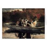 Perros en un barco felicitación