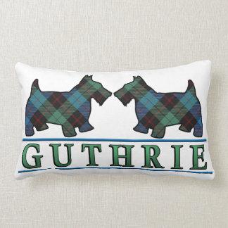 Perros escoceses del escocés del tartán de Guthrie Cojín Lumbar