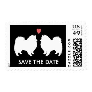 Perros esquimales americanos que casan reserva la sellos postales