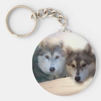 perros esquimales llavero