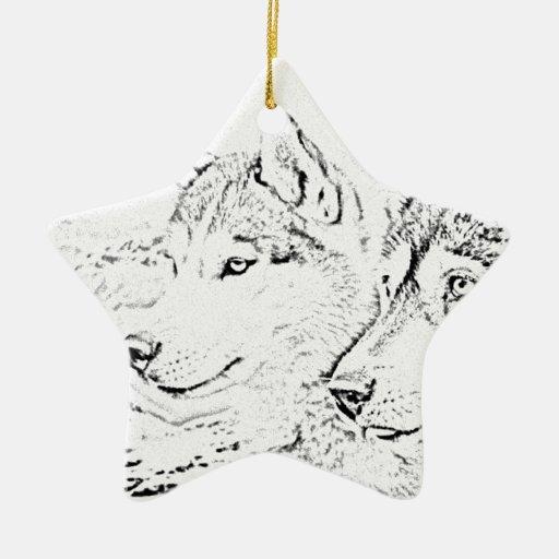 Perros fornidos ornamentos de navidad