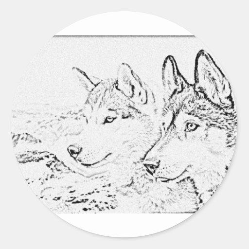 Perros fornidos pegatina redonda