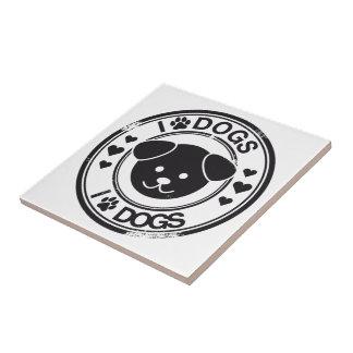 Perros I (de la pata) Azulejo Cuadrado Pequeño