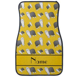 Perros ingleses viejos amarillos conocidos alfombrilla de auto