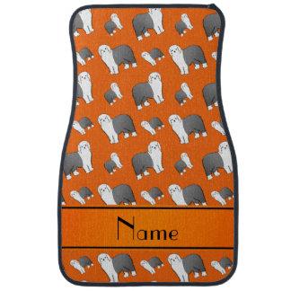 Perros ingleses viejos anaranjados conocidos alfombrilla de auto