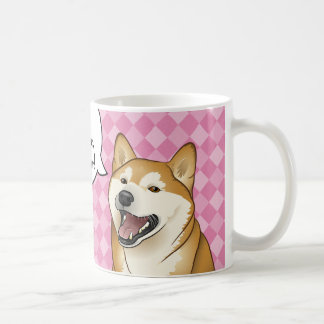 """Perros japoneses felices de Shiba Inu los """"son Taza Básica Blanca"""